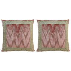 Velvet Pillows. | From a unique collection of antique and modern pillows and throws at https://www.1stdibs.com/furniture/more-furniture-collectibles/pillows-throws/