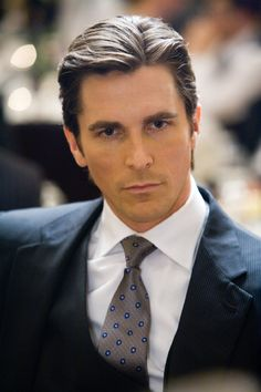 Christian Bale - he might be 10 years older than what Christian Grey is but I totally see him playing the part......he looks like he could have kinky fuckery in him and just fucked hair........and a very dominant personality......this is who I pictured while reading the book :)