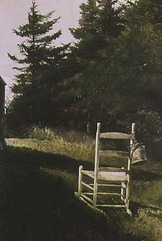 Andrew Wyeth, Lawn Chair it'd be cool to have rocking chairs on the lawn to create gathering spots