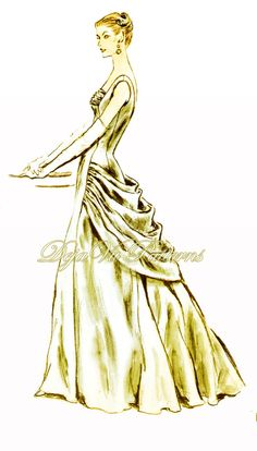 Vogue 884 Vintage 1950s Evening or Ball Gown by DejaVuPatterns, $333.75.  Vogue please reproduce!