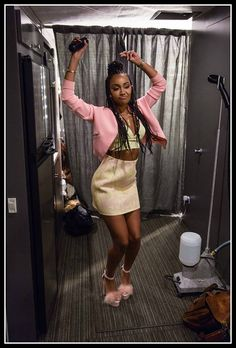 Little Mix backstage of Black Magic - Leigh Anne Pinnock