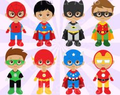 Superhero Digital Clipart Superhero Clipart Superhero Clip