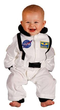 818e24a6f0b5d Aeromax Junior Astronaut Suit with Embroidered Cap, Size 18 Months, White
