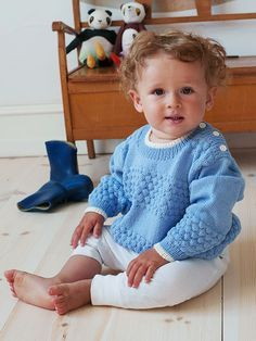 Knitting Pattern - Seamen's Sweater for Kids Baby Knitting Free, Knitting For Kids, Knitting Patterns, Crochet Patterns, Baby Kids, Baby Boy, Baby Cardigan, Baby Sweaters, Knitted Hats