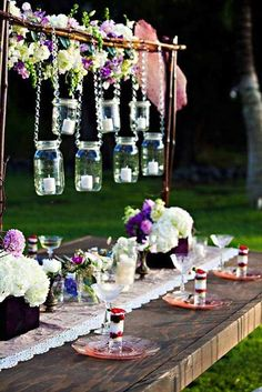 Jars in gardenparty