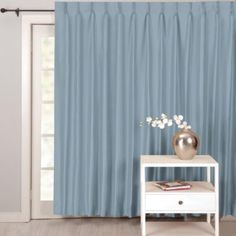 Beau Supreme Palace Antique Satin Pinch Pleat Lined Patio Panel Found At
