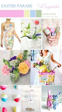 Easter wedding inspiration board by Pocketful of Dreams for www.lovemydress.net