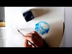 How to paint with Ecoline ink (Jellyfish painting by Moanart) - YouTube
