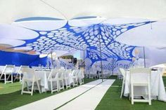 Stretch decor combo Consists of: Tiffany resin chairs Round folding table Round table cloths Artificial grass roll non waterproof stretch decor Tent Hire, Event Themes, Wedding Decorations, Colours, Beach, Ropes, Guy, Popular, Traditional
