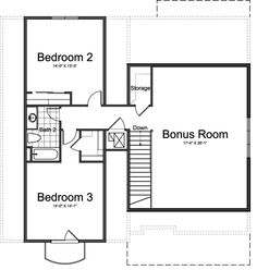 Villa Medici Ivory Homes Floor Plan - Upper Level