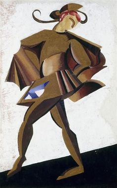 """Theatrical costume design for the play by William Shakespeare's """"Romeo and Juliet """" by Aleksandra Ekster Futurism Art, Art Deco Paintings, Expressionist Artists, Expressionism, Cubist Art, Russian Avant Garde, Oil Painting Reproductions, Romeo And Juliet, William Shakespeare"""