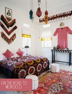 Inspiring 66 Mysterious Moroccan Bedroom Designs : 66 Mysterious Moroccan Bedroom Designs With White Black Red Bedroom Wall Bed Pillow Blanket Chandelier Window Nightstand Lamp Chair Carpet And Ceramic Floor Moroccan Bedroom, Bedroom Red, Bedroom Photos, Moroccan Decor, Home Bedroom, Bedroom Wall, Bedroom Decor, Moroccan Style, Ethnic Decor