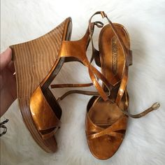NWT Enzo Angiolini Wedges Absolutely stunning copper wedges from Enzo Angiolini. Never worn at all. Perfect condition. NO TRADES PLEASE Enzo Angiolini Shoes Wedges