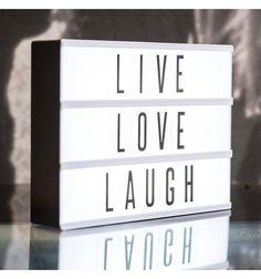 Caja con luz letras Luminoso Cine retro