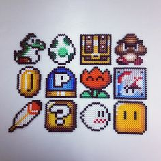 Super Mario perler beads by trettitro