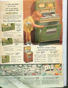 I wanted this whole page! I think I did get the kitchen utensils and someone did have a kitchen set...maybe it was me.  Sears Catalog 1969 by raining rita, via Flickr