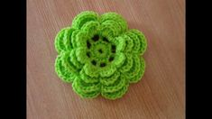 วิธีถักดอกไม้4ชั้น8กลีบ โครเชต์ไหมพรมแบบง่ายๆ- How to crochet flower 8 P...