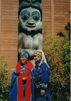 Artists Irene Loling Sarabia Lampe and Clarissa Rizal (Tlingit)