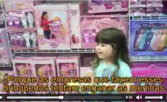 Menina questiona o sexismo na indústria de brinquedos