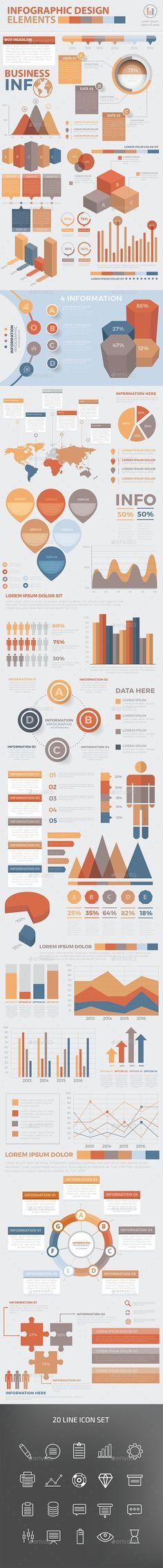 Modern Infographic Elements Design Template Vector EPS, AI Illustrator. Download here: http://graphicriver.net/item/modern-infographic-elements-design/16181034?ref=ksioks