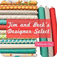 <3 This bundle!  Tim and Beck's Designer Select Fat Quarter Bundle Bungle Jungle Collection