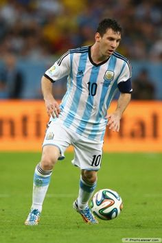 Lionel Messi Argentina 2014 FIFA World Cup Photo Wallpaper A