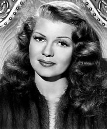 "Rita Hayworth (born Margarita Carmen Cansino; October 17, 1918 – May 14, 1987) - Publicity shot from ""Down to Earth."" 