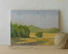 Field and Tree   Original Landscape Oil by BarraganPaintings, €65.00