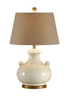 """FineHomeLamps.com - Niccolo White Ceramic Lamp by Wildwood Lamps - 26"""", $448.50 (http://www.finehomelamps.com/niccolo-white-ceramic-lamp.html/)"""