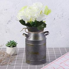 Whether you like flowers or not, vases are an affordable way to add elegance and style to any home. Shop our large selection of different shapes, sizes & colors and find the rustic vase that is perfect for you. Rustic End Tables, Rustic Vases, Side Table With Drawer, Wooden Side Table, Flower Centerpieces, Flower Vases, Whitewash Wood, Distressed Painting, Wood Storage