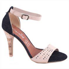 Sandale cu toc 20-F41454B - Reducere 58% -  Zibra Heeled Mules, Peep Toe, Shoes, Fashion, Moda, Zapatos, Shoes Outlet, Fashion Styles, Shoe