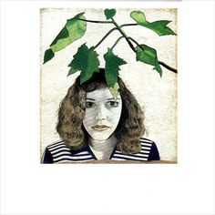 Colour Postcard - Girl with Leaves by Lucien Freud 1948 on eBid United Kingdom