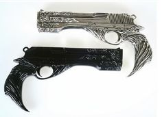 Price Goes Bak Up to Full Retail, $250, After timer expires! Love Devil May Cry? Well you're going to LOVE Ebony & Ivory! These Gun Props are straight out of the DMC Series, Officially Licensed! We're
