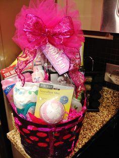 Baby Girl Shower Gift Basket