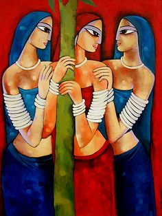 Shop for krishna art from the world's greatest living artists. All krishna artwork ships within 48 hours and includes a money-back guarantee. Choose your favorite krishna designs and purchase them as wall art, home decor, phone cases, tote bags, and more! Rajasthani Painting, Rajasthani Art, African Art Paintings, Modern Art Paintings, Madhubani Art, Madhubani Painting, Composition Painting, Indian Folk Art, Cherokee Indian Art