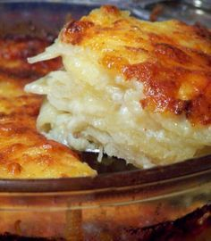 Scalloped Potatoes   REALLY quick to make (seriously, it only took me like 1 minute to slice all my potatoes--and they were even thickness).