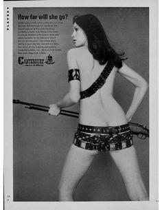 "advertisingpics:  ""How far will she go? Canterbury belts Playboy magazine ad, September 1970  Source: https://openpics.aerobatic.io/  """