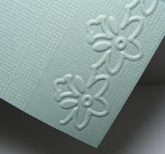 How to avoid lines with embossing borders. I think I pinned this already. will need to check