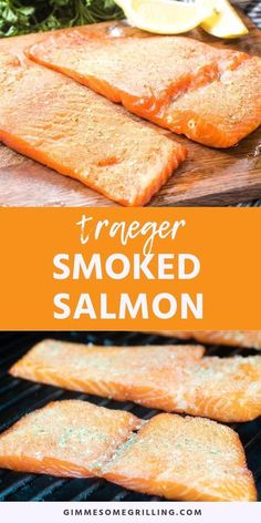 Traeger smoked salmon is made with a dry brine and smoked on your Traeger smoker It s full of flavor and great for all your recipes using smoked salmon or enjoyed alone traeger salmon Traeger Smoker Recipes, Pellet Grill Recipes, Grilling Recipes, Rib Recipes, Easy Recipes, Traeger Smoked Salmon, Best Smoked Salmon, Smoked Pork, Recipes Using Smoked Salmon