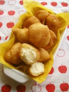 Easy Crispy and Chewy Potato Starch Donuts Recipe - Yummy this dish is very delicous. Let's make Easy Crispy and Chewy Potato Starch Donuts in your home! Donut Recipes, Sweets Recipes, Baby Food Recipes, Snack Recipes, Cooking Recipes, Snacks, A Food, Food And Drink, Good Food
