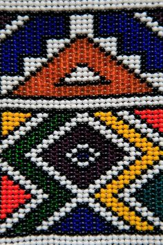 size: Photographic Print: Traditional Beaded Art, Craft Poster by Kymri Wilt : Artists Bead Loom Patterns, Textile Patterns, Beading Patterns, Embroidery Patterns, Textile Design, Print Patterns, South African Design, South African Art, African Textiles