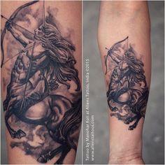 #sagittarius #tattoo by Manohar Koli at Aliens Tattoo India.  http://ift.tt/1kXXMch