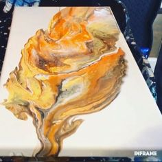 Fluid Acrylic Painting Video Fluid acrylic painting using the flip and drag technique. For more video tutorials, check out my Liquid Acrylic Paint, Acrylic Pouring Art, Acrylic Art, Acrylic Painting Canvas, Acrylic Painting For Beginners, Simple Acrylic Paintings, Acrylic Painting Tutorials, Painting Videos, Flow Painting
