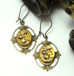 Earrings by Mystic Pieces #steampunk #jewelry #mysticpieces
