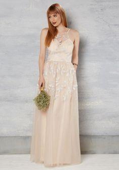 vestido de noiva barato de modcloth online em pessego com bordado de folhas 1 - 175