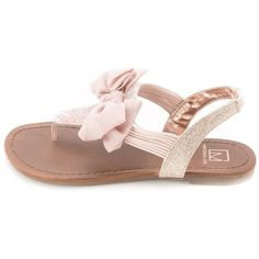 Material Girl Material Girl Women's Swan Flat Thong Sandals |... (43 CAD) ❤ liked on Polyvore featuring shoes, sandals, pink, gladiator wedge sandals, laced up ballet flats, pink ballet flats, platform sandals and platform wedge sandals