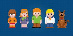 Looking for your next project? You're going to love Scooby Doo Characters - Cross Stitch  by designer pxlpwr.