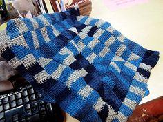 This Tunisian Crochet Ten Stitch Blanket is a conversion of Frankie Brown's Ten Stitch Blanket Knitting Pattern.