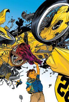 Nathan Fox's Stay Tuned – Meathaus Enterprises: Comics + Cartooning + Animation + Inspiration Photography Collage, Nathan Fox, Comic Book Art Style, Drawings, Comic Book Style, Illustration Art, Art, Cover Art, Fox Art