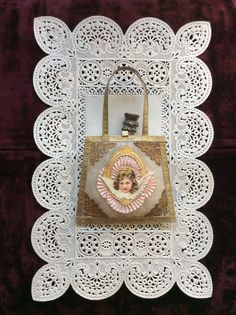 victorian christmas ornament purse made by me